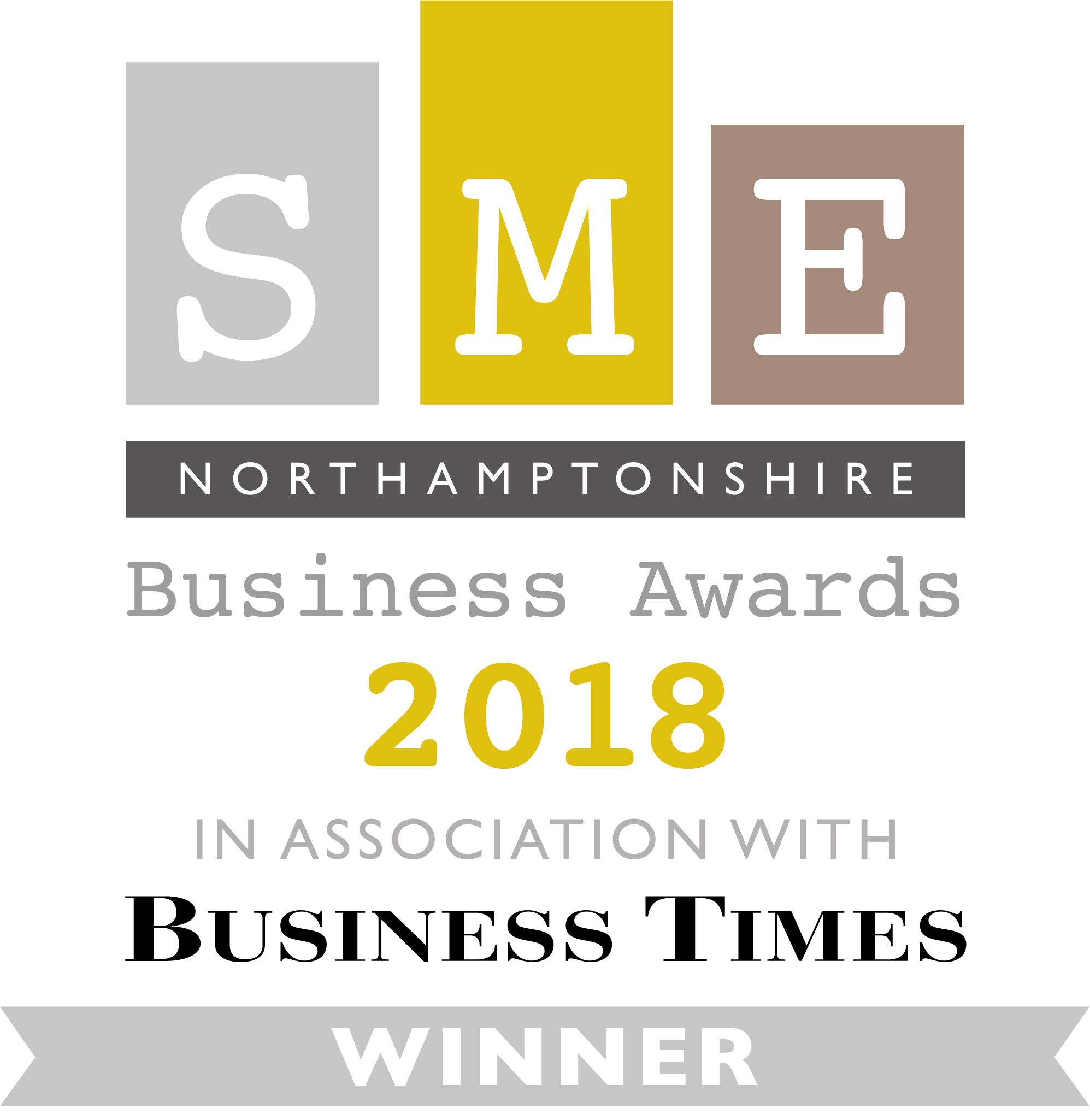 SME Northamptonshire Business Awards Winner 2018